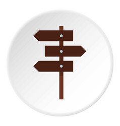 Road sign icon circle vector