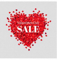 Sale banner valentines day vector