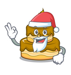 santa birthday cake mascot cartoon vector image
