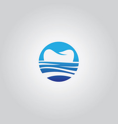 sea tooth logo vector image