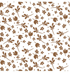 seamless floral pattern gold and white vector image