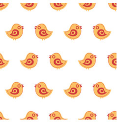 Seamless pattern with cartoon birds vector