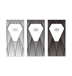 set of modern banner design vector image