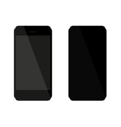 seth black phone that consists of front and rear vector image