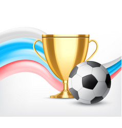 soccer world cup concept vector image