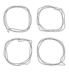 speech bubble collection abstract frames vector image
