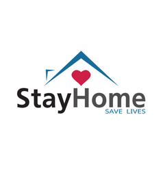 Stay at home coronavirus defensive campaign vector