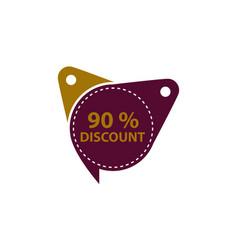 tag discount label 90 percent vector image