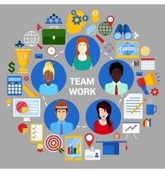 Team Work Planning Strategy Corporate Business vector image
