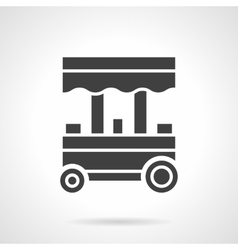 Trade trolley glyph style icon vector