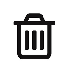 trash icon garbage symbol can bin delete and vector image