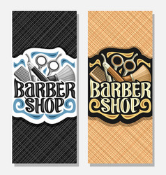 Vertical banners for barber shop vector