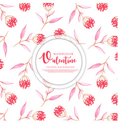 watercolor valentine heart pattern vector image