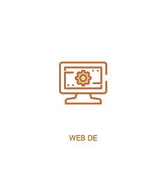 Web de concept 2 colored icon simple line element vector