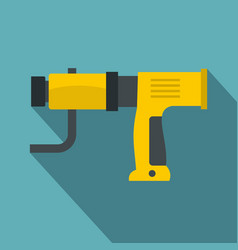 Yellow hand drill icon flat style vector