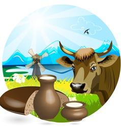 cow pot vector image vector image