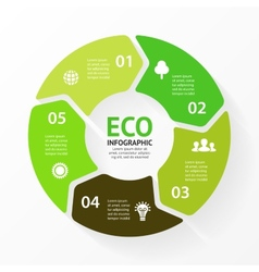 green circle arrows eco infographic vector image