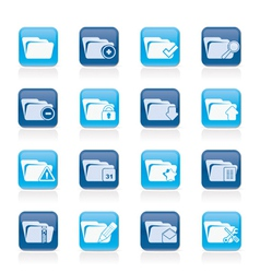 Different kind of folder icons vector image