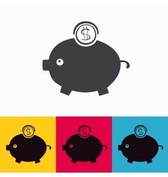 moneybox vector image vector image