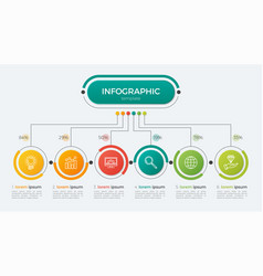 presentation infographic template 6 options vector image