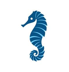 seahorse logo template vector image
