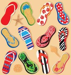 summer sandals vector image vector image