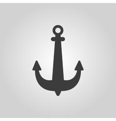 The anchor icon Ocean symbol Flat vector image vector image