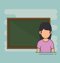 avatar school teacher at the chalkboard vector image