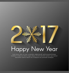 Golden new year 2017 concept on black background vector