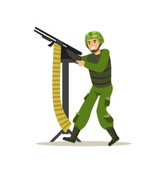 infantry troops soldier character in camouflage vector image