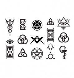 medieval magic stamps vector image vector image