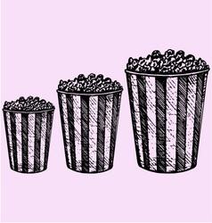 popcorn cardboard box cinema vector image