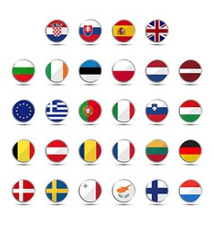 Set of European Union country flags vector image