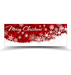 Snowflakes Christmas Web Banners Red vector image