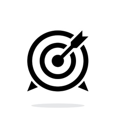 Target with arrow icon on white background vector image vector image
