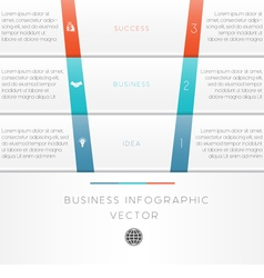 template infographic strips 3 position vector image vector image