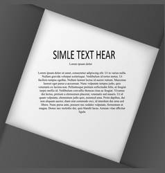 text gray in frame vector image vector image