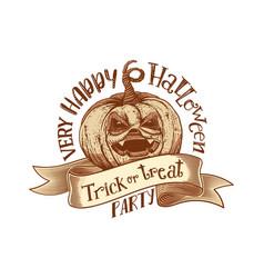 trick or treat retro happy halloween party vector image vector image