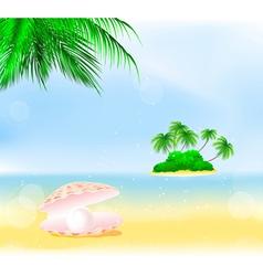Tropical Island Pearls vector image vector image