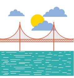 golden gate san francisco usa image vector image