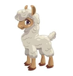 Little cute lama vector image vector image