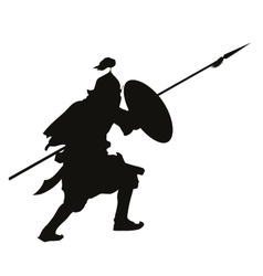 Oriental warrior vector image vector image