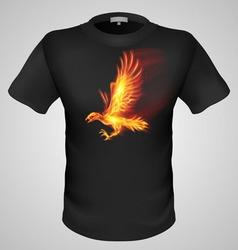 t shirts Black Fire Print man 08 vector image vector image