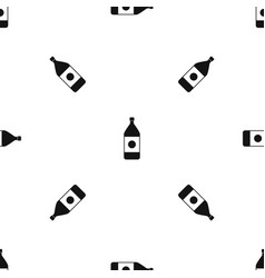 water bottle pattern seamless black vector image vector image