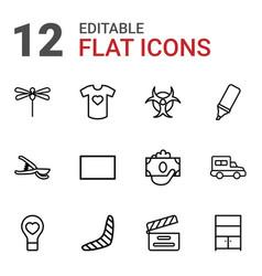 12 art icons vector