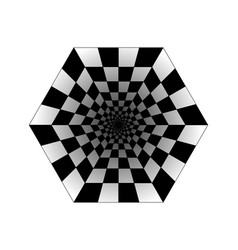Abstract perspective geometric chess background vector