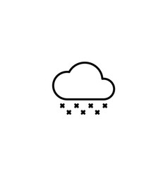 Acid rain icon vector
