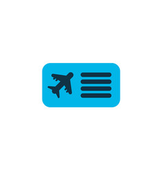 airplane ticket icon colored symbol premium vector image