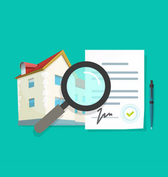 Audit review residential home vector