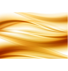 beautiful gold satin drapery background soft vector image